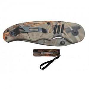 K-157 - CAMO KNIFE & FLASHLIGHT SET